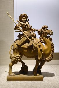木雕木兰从军