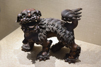 清代木雕狮子