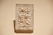 清代银镀金花卉纹名片盒