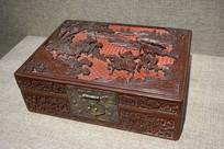 剔红古代人物首饰盒