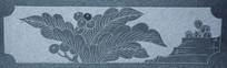 石刻浮雕花草绿巨人果实