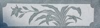 石刻浮雕桔梗