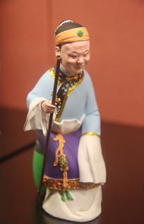 彩色泥塑古代老人