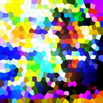 抽象 玻璃 无框画