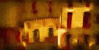 高清抽象油画 建筑装饰画