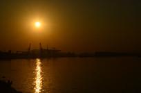 江河日落风景图片