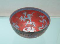 清乾隆红彩龙纹薄胎瓷碗