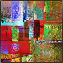 无框画 色块抽象画高清图片
