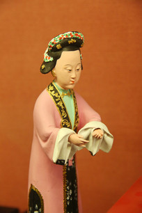 彩色泥塑人物古代女性
