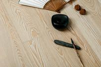 白色木纹理地板