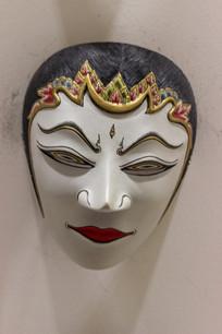 木刻彩绘面具图片,高清大图 雕刻艺术素材