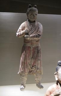明代文物彩绘陶仪仗俑