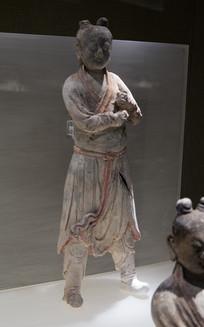 明代文物精品彩绘陶仪仗俑