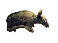 明代文物精品三色釉十二生肖鼠