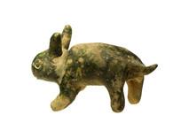 明代文物精品三色釉十二生肖兔