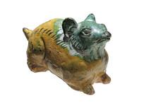 明代文物三色釉十二生肖鼠