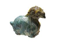 明代文物三色釉十二生肖羊