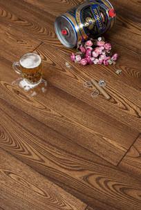 木纹理地板细节图