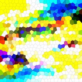 七彩玻璃抽象画