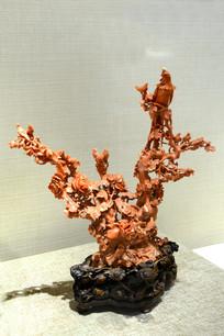 珊瑚雕凤凰摆件