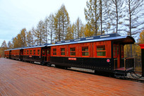 森林观光小火车车厢