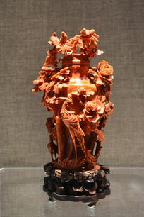 珊瑚雕百鸟朝凤瓶