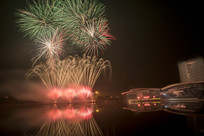 扬州明月湖烟火