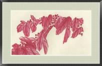 红叶现代装饰画