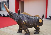 积木金属犀牛
