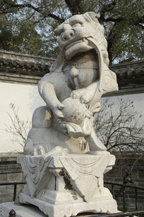 孔府公石狮