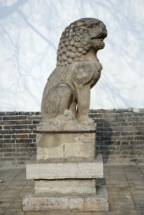 明代石雕狮子