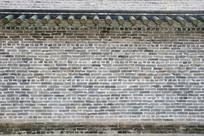 青砖绿琉璃屋檐背景墙