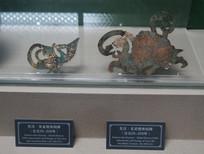 东汉朱雀棺饰和玄武棺饰铜牌