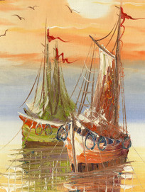 风景画 爱情海 无框画 地中海油画