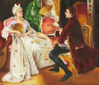 贵妇油画 宫廷油画 人物油画