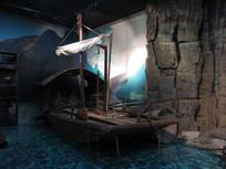 三峡博物馆陈列品渔船