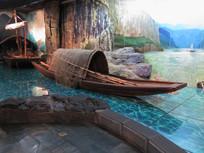 三峡博物馆展品渔船