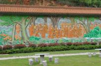 大树和尚墙画