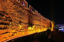 凤凰古城城墙夜色