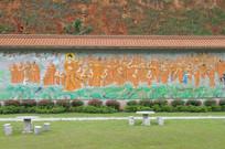 佛祖和尚墙画