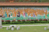 和尚动物墙画