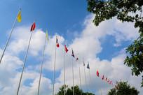 蓝天下的旗帜