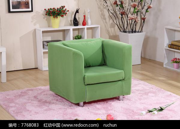 绿色单人沙发图片,高清大图