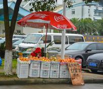 卖苹果的小摊贩