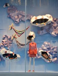 围巾服装橱窗