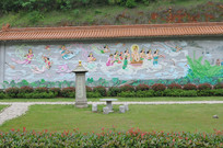 仙女佛祖墙画