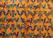 壮族动物纹织锦图案