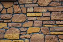 背景材料无规则瓷砖墙体