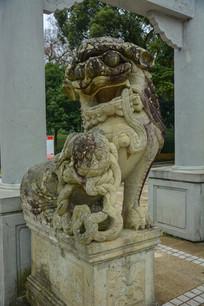 定海海山公园石狮子