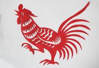公鸡剪纸图案